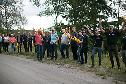 Roadside spectators cheer the race on on Stage 3 of the Ladies Tour of Norway - a 156.6 km road race, between Svinesund (SE) and Halden on August 20, 2017, in Ostfold, Norway. (Photo by Balint Hamvas/Velofocus.com)