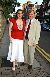 CHARLES KENNEDY and his wife SARAH at Sir David & Lady Carina Frost's annual summer party held in Carlyle Square, Chelsea, London on 5th July 2006.<br /><br />NON EXCLUSIVE - WORLD RIGHTS