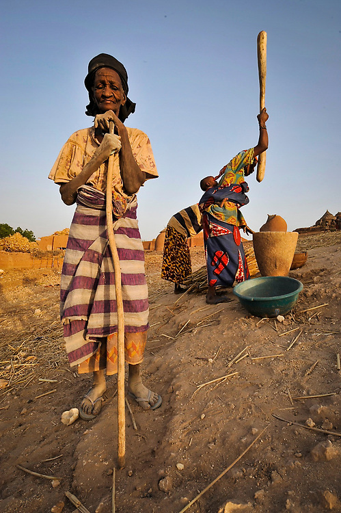 In the village of Garadawa, near Keita, Niger.  One of the villages where the Project Keita has been restoring soil.  <br /> Most of the work has been done by the women of the area.