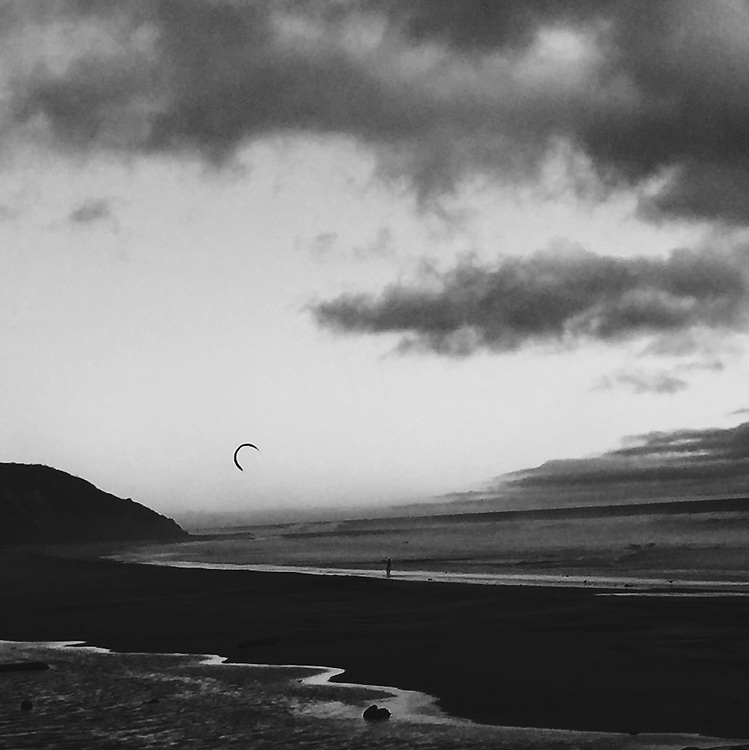 Kite Surfer off the coast of California. Taken with an iPhone6