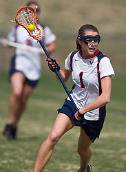 Virginia M Yeardley Love (1).  The #2 ranked Virginia Cavaliers women's lacrosse team defeated the Penn State Nittany Lions 12-11 in overtime at Klockner Stadium on the Grounds of the University of Virginia in Charlottesville, VA on March 7, 2009.