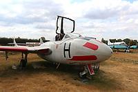 De Havilland DH 115 Vampire T.11, The de Havilland Aircraft Museum, Salisbury Hall, Shenley, London Colney, Hertfordshire, 24 July 2018, Photo by Richard Goldschmidt,