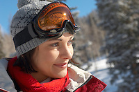 Young Woman on the Ski Slope