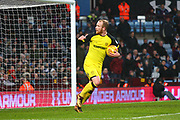 Burton Albion's Liam Boyce scores a goal and celebrates, 2-3 during the EFL Sky Bet Championship match between Aston Villa and Burton Albion at Villa Park, Birmingham, England on 3 February 2018. Picture by John Potts.
