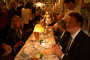 Charles Finch and  Jay Jopling host dinner in celebration of Frieze Art Fair at the Birley Group's Harry's Bar. London. 10 October 2012.