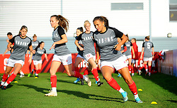 Abi Harrison of Bristol City warms up prior to kick-off- Mandatory by-line: Nizaam Jones/JMP - 27/10/2019 - FOOTBALL - Stoke Gifford Stadium - Bristol, England - Bristol City Women v Tottenham Hotspur Women - Barclays FA Women's Super League