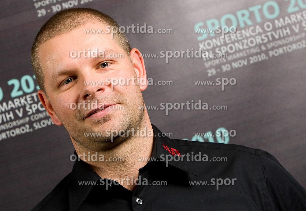of Sport TV during Day two of Sporto  2010 - Sports marketing and sponsorship conference, on November 30, 2010 in Hotel Slovenija, Portoroz/Portorose, Slovenia. (Photo By Vid Ponikvar / Sportida.com)