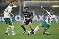 Milano 14/9/2004 Champions League Matchday 1<br /> <br /> Inter Werder Bremen 2-0 <br /> <br /> Ludovic Magnin Werder Bremen (L) Alvaro Recoba Inter (C) <br /> <br /> Frank Fahrenhorst Werder Bremen (R)<br /> <br /> Foto Andrea Staccioli Graffiti