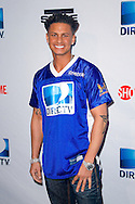 MTV Jersey Shore star Pauly D seen at the Direct TV Beach Bash during Super Bowl XLVI activities in Indianapolis, Indiana.