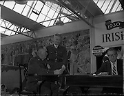 22/10/1959<br /> 10/22/1959<br /> 22 October 1959<br /> Irish Hospitals Trust 97th Sweepstake Draw on Cambridgeshire 1959 at Irish Hospital Sweepstakes office, Ballsbridge, Dublin. Garda Superintendent checking tickets.