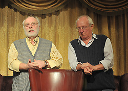 Brian Keenan and Robert Fisk in discussion at the Rolling Sun Book Festival event on saturday evening at Hotel Westport over the weekend.<br /> Pic Conor McKeown