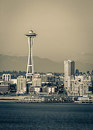Seattle view with Space Needle - WA