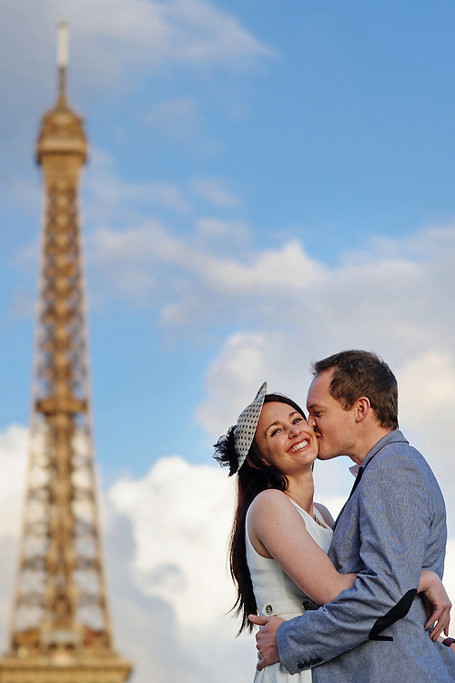 Paris Wedding Photography at the Eiffel Tower.  Image by Maine Wedding Photographer, Puerto Vallarta Wedding Photographer, New York City Wedding Photographer and Philadelphia Wedding Photographer Michelle Turner.