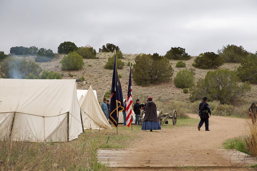 Union forces (5th U.S. Infantry regiment) campsite.