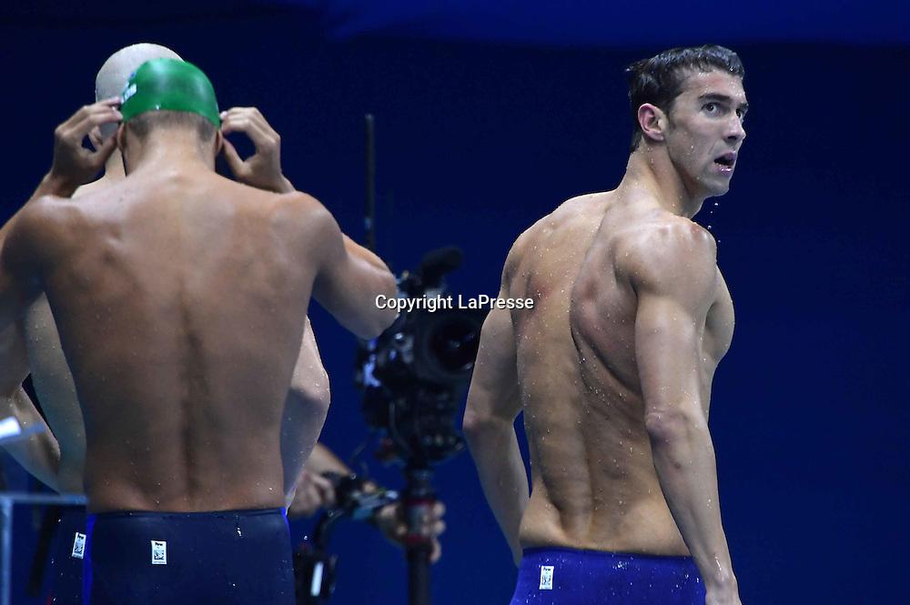 Foto  LaPresse/  Gian Mattia D'Alberto<br /> 13-08-2016  Rio de Janeiro<br /> sport<br /> Giochi Olimpici Rio 2016 - nuoto <br /> nella foto:  PHELPS Michael USA<br /> <br /> Photo LaPresse/ Gian Mattia D'Alberto<br /> 13-08-2016  Rio de Janeiro<br /> Rio 2016 Olympic  Games - swimming<br /> In the picture:  PHELPS Michael USA