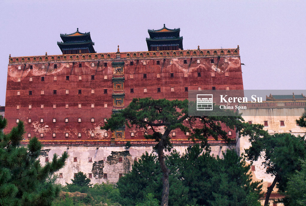 Main temple building of Putuo Zongsheng Temple, Imperial Summer Palace and its Outlying Temples, Chengde, Hebei Province, China
