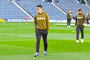 Pablo Hernandez of Leeds United (19) arrives at the ground during the EFL Sky Bet Championship match between Preston North End and Leeds United at Deepdale, Preston, England on 9 April 2019.