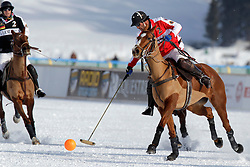 Frederico Bachmann of team Switzerland going for the ball <br /> St.Moritz Polo World Cup On Snow 2011<br /> © Dirk Caremans