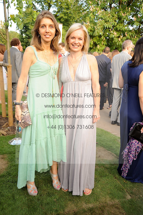 Left to right, HENRIETTA CONRAD and MARIELLA FROSTRUP at the annual Serpentine Gallery Summer party this year sponsored by Jaguar held at the Serpentine Gallery, Kensington Gardens, London on 8th July 2010.  2010 marks the 40th anniversary of the Serpentine Gallery and the 10th Pavilion.