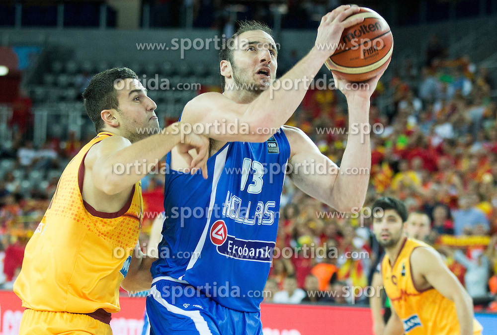 Kostas Koufos of Greece during basketball match between FYR of Macedonia and Greece at Day 1 in Group C of FIBA Europe Eurobasket 2015, on September 5, 2015, in Arena Zagreb, Croatia. Photo by Vid Ponikvar / Sportida