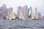 The start of Leg 7 of the Volvo Ocean Race in Boston.
