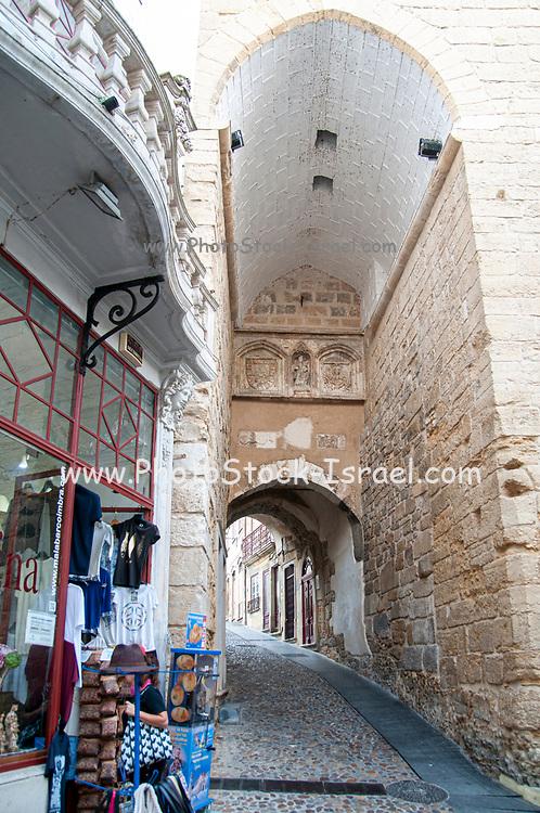 Arco de Almedina. The gateway to the ancient walled city, Coimbra, Portugal