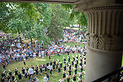 The Marching 110 performs at the Student Involvement Fair.