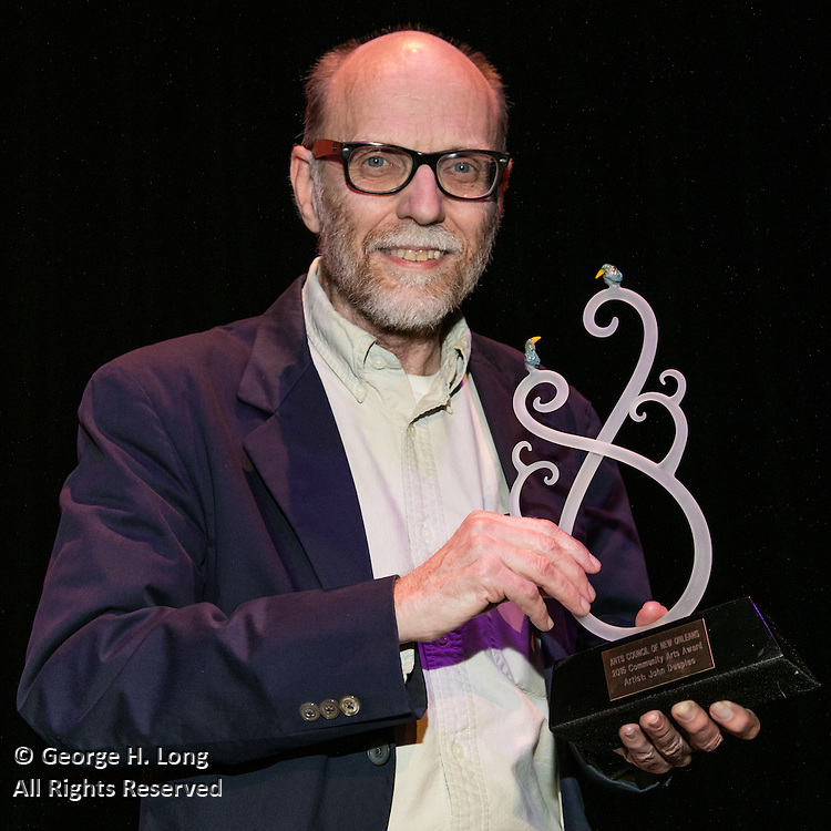 Honoree John Desplas at the Arts Council New Orleans Community Arts Awards Celebration at the Civic Theatre December 2, 2015
