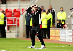 Bristol City head coach Lee Johnson reacts - Mandatory by-line: Matt McNulty/JMP - 10/09/2016 - FOOTBALL - Aesseal New York Stadium - Rotherham, England - Rotherham United v Bristol City - Sky Bet Championship