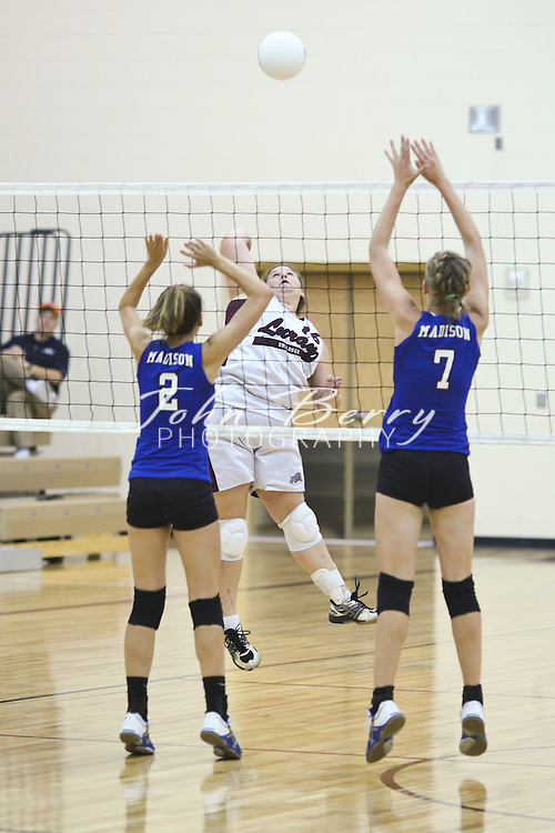 MCHS Varsity Volleyball at Luray High School Bulldogs, 9-14-09  The Varsity Volleyball team lost a close 5 game match at Luray last night 3-2. Madison was up 2 games to 1 but the Bulldogs won the last two games for the win. Tori Puryear led Madison with 19 kills. Jordan Aylor played well with 8 kills, 16 digs and 22 assists and Kathryn Crouthamel had 19 service points. Caitlyn Ford had 17 digs and Megan Clark Samantha Cubbage added 14 digs. Madison is now 2-5 overall