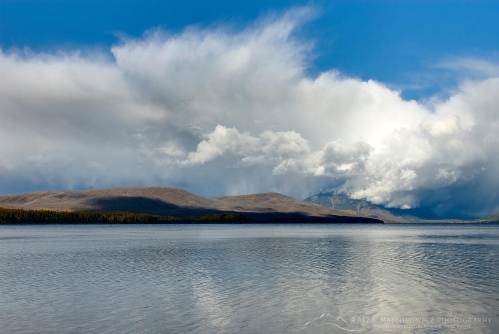 Clearing autumn storm over Lake McDonald, Glacier National Park Montana