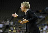 December 22 2010: Iowa head coach Lisa Bluder during the second half of an NCAA college basketball game at Carver-Hawkeye Arena in Iowa City, Iowa on December 22, 2010. Iowa defeated Northern Iowa 75-64.
