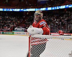 12.05.2013, Globe Arena, Stockholm, SWE, IIHF, Eishockey WM, Kanada vs Tschechische Republik, im Bild Canada Kanada 41 Goaltender Mike Smith // during the IIHF Icehockey World Championship Game between Canada and Czech Republic at the Ericsson Globe, Stockholm, Sweden on 2013/05/12. EXPA Pictures © 2013, PhotoCredit: EXPA/ PicAgency Skycam/ Simone Syversson..***** ATTENTION - OUT OF SWE *****
