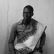 A young man from Antula, a district of the capital Bissau, in the sewing workshop. This lab intends to create income and convince young people to stay.<br /> <br /> Un joven de Antula, un distrito de la capital Bissau, en el taller de costura. Este laboratorio tiene la intenci&oacute;n de crear ingresos y convencer a los j&oacute;venes a quedarse.