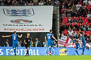Slovakia (22) Stanislav LOBOTKA celebrate goal during the FIFA World Cup Qualifier match between England and Slovakia at Wembley Stadium, London, England on 4 September 2017. Photo by Sebastian Frej.