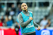 Jonjo Shelvey (#8) of Newcastle United during the warmup ahead of the Premier League match between Newcastle United and Watford at St. James's Park, Newcastle, England on 3 November 2018.