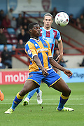 Sullay Kaikai of Shrewsbury Townduring the Sky Bet League 1 match between Scunthorpe United and Shrewsbury Town at Glanford Park, Scunthorpe, England on 17 October 2015. Photo by Ian Lyall.