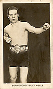 "Amazing images of Britain's best boxers from the 1920's<br /> <br /> From the 1920s up until World War 2 cigarette companies, sporting magazines and boys' weeklies included real photo cards of sports stars to collect and swap. These photos of British boxers come from magazines like The Champion, The Magnet and Boy's Friend and cigarette companies such as Senior Service and Ogdens.<br /> <br /> Photo shows: ""Bermondsey"" Billy Wells: Born in London, welterweight Billy Wells had his greatest suiccess in North America, where he beat such notables as Dave Shade and Jack Britton in the 1920s. The closest he came to a world title however was in 1922 when he beat Frank Barrieau to win the Canadian Welterweight title.<br /> ©One mans treasure/Exclusivepix Media"