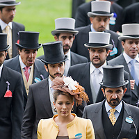 ASCOT, ENGLAND - JUNE 20:  HH Sheikh Mohammed Bin Rashid Al Maktoum and HRH Princess Haya Bint Al Hussein of Jordan attend the fifth and final day of Royal Week at Ascot Racecourse on June 20, 2009 in Ascot, England  (Photo by Marco Secchi/Getty Images)