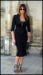 Jemima Khan arrives at Westminster Abbey for the service to celebrate the life and work of Sir David Frost, Westminster Abbey, London, United Kingdom. Thursday, 13th March 2014. Picture by Andrew Parsons / i-Images