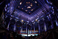 April 4, 2014, New York, NY: Inside The Capitale Ballroom before the fights.