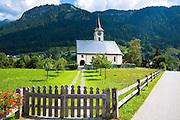 Kirchgemeinde church for the Evangelist Reformist community of Klosters - Serneus in Graubunden region, Switzerland