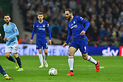 Gonzalo Higuain (9) of Chelsea on the attack during the Carabao Cup Final match between Chelsea and Manchester City at Wembley Stadium, London, England on 24 February 2019.