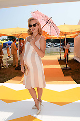 CHARLOTTE DELLAL at the Veuve Clicquot Gold Cup, Cowdray Park, Midhurst, West Sussex on 21st July 2013.