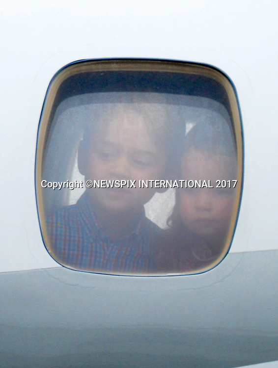 &ldquo;UK 28 Days Out&rdquo;<br />17.07.2017; Warsaw, Poland: PRINCE GEORGE, PRINCESS CHARLOTTE, KATE AND WILLIAM<br />arrive at Warsaw Military Airport, Warsaw at the start of their tour to Poland.<br />The royals will tour both Poland and Germany over the next five days.<br />Mandatory Photo Credit: &copy;Francis Dias/NEWSPIX INTERNATIONAL<br /><br />IMMEDIATE CONFIRMATION OF USAGE REQUIRED:<br />Newspix International, 31 Chinnery Hill, Bishop's Stortford, ENGLAND CM23 3PS<br />Tel:+441279 324672  ; Fax: +441279656877<br />Mobile:  07775681153<br />e-mail: info@newspixinternational.co.uk<br />Usage Implies Acceptance of OUr Terms &amp; Conditions<br />Please refer to usage terms. All Fees Payable To Newspix International