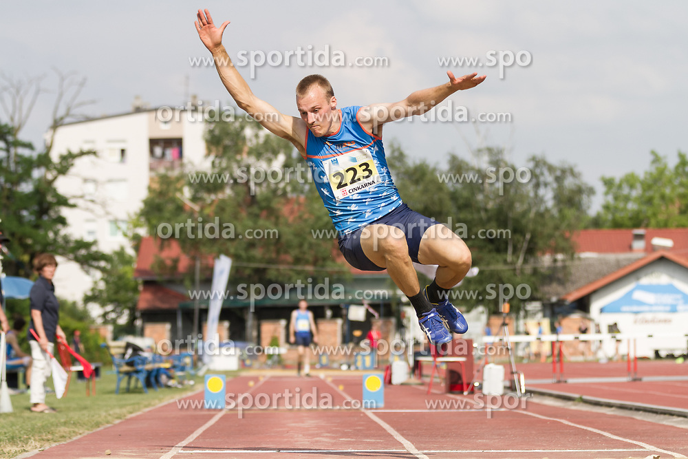 Ziga Vrscaj competes during day 2 of Slovenian Athletics Cup 2019, on June 16, 2019 in Celje, Slovenia. Photo by Peter Kastelic / Sportida