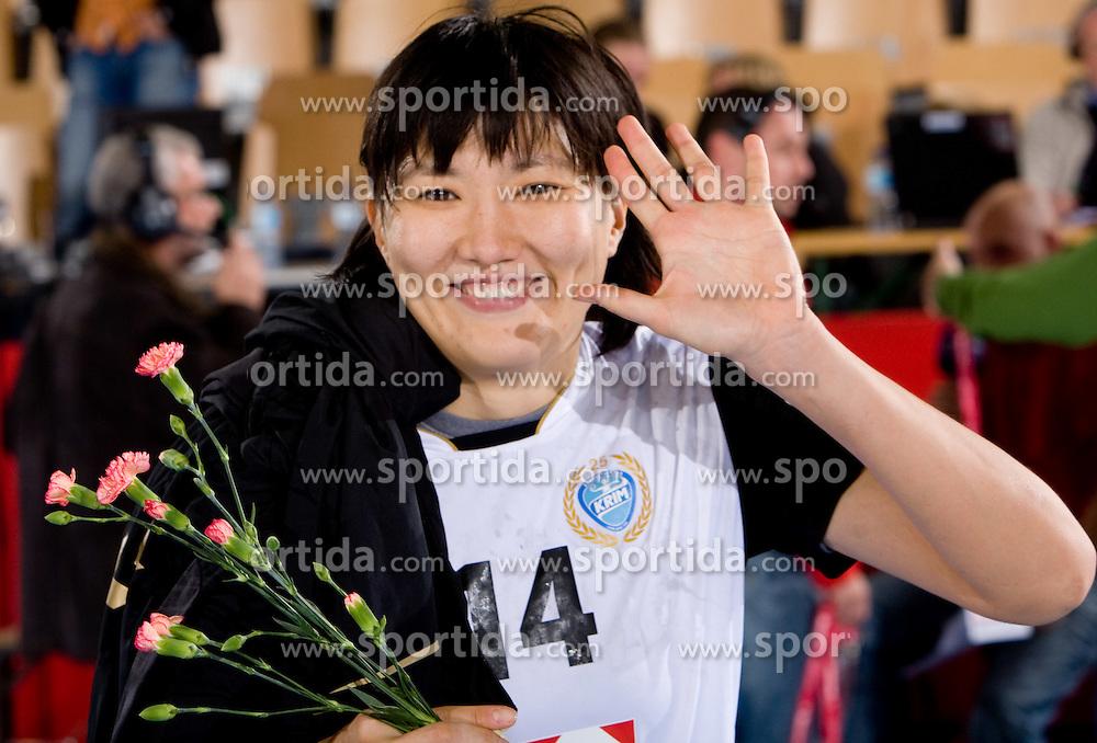 Liudmila Bodnieva at handball match of Round 2 of Champions League between RK Krim Mercator and Aalborg DH, on October 31, 2009, in Arena Kodeljevo, Ljubljana, Slovenia.  Krim won 30:23. (Photo by Vid Ponikvar / Sportida)