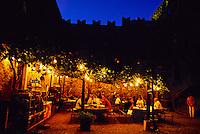 Restaurant at Castello di Sasso Corbaro (castle),  Bellinzona, Ticino, Switzerland