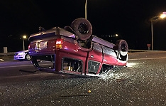 Tauranga-Car rolls on 11th Avenue