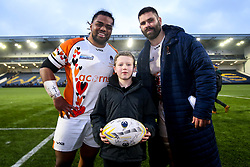 Acorns presentation with Joe Taufete'e and Cornell du Preez of Worcester Warriors - Mandatory by-line: Robbie Stephenson/JMP - 15/02/2020 - RUGBY - Sixways Stadium - Worcester, England - Worcester Warriors v Bath Rugby - Gallagher Premiership Rugby